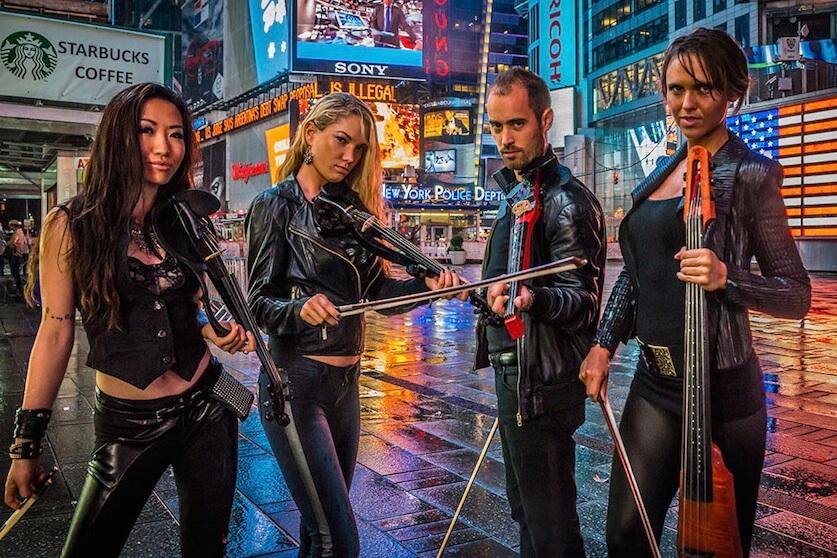electric string quartet violinist new york nyc miami boston. Black Bedroom Furniture Sets. Home Design Ideas