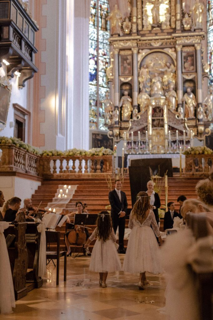 string quartet wedding at basilica st Michael