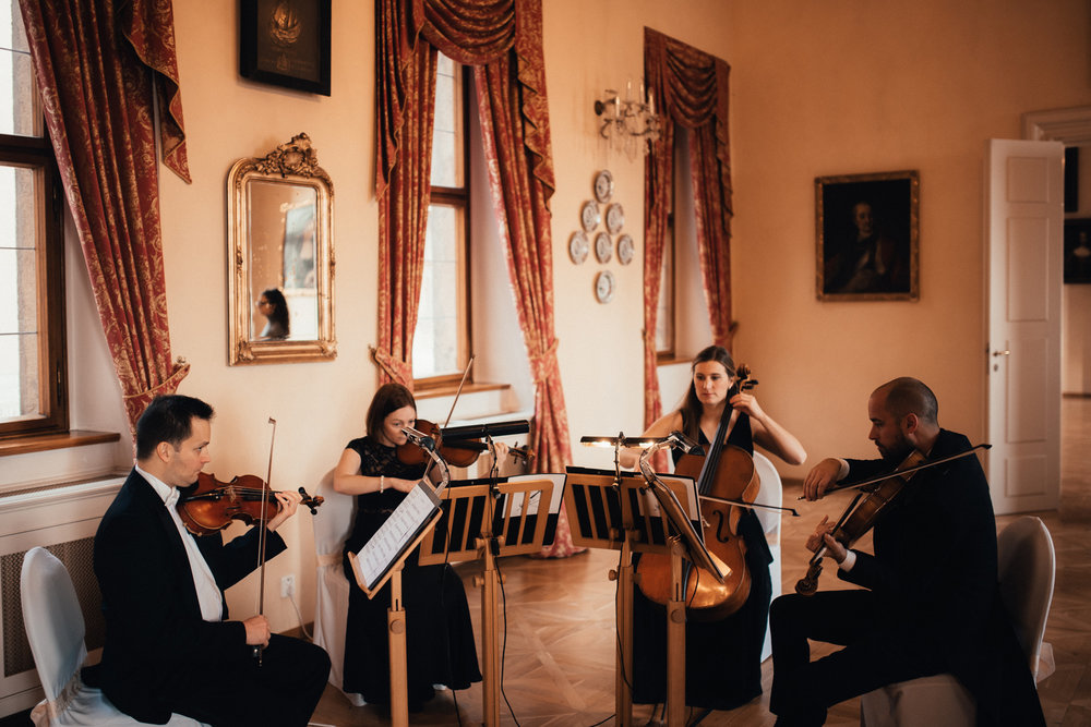 wedding string quartet in Prague