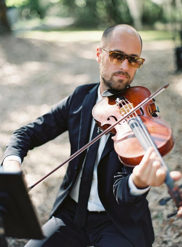 Peter Kiral wedding violinist on Spring Island