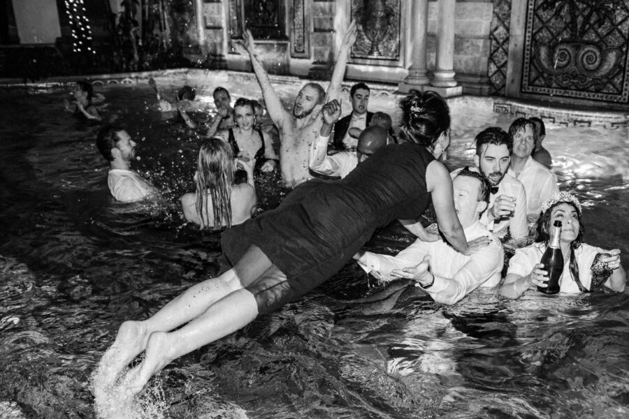Swimming pool at Versace Mansion - Miami Wedding photo by Jan Freire