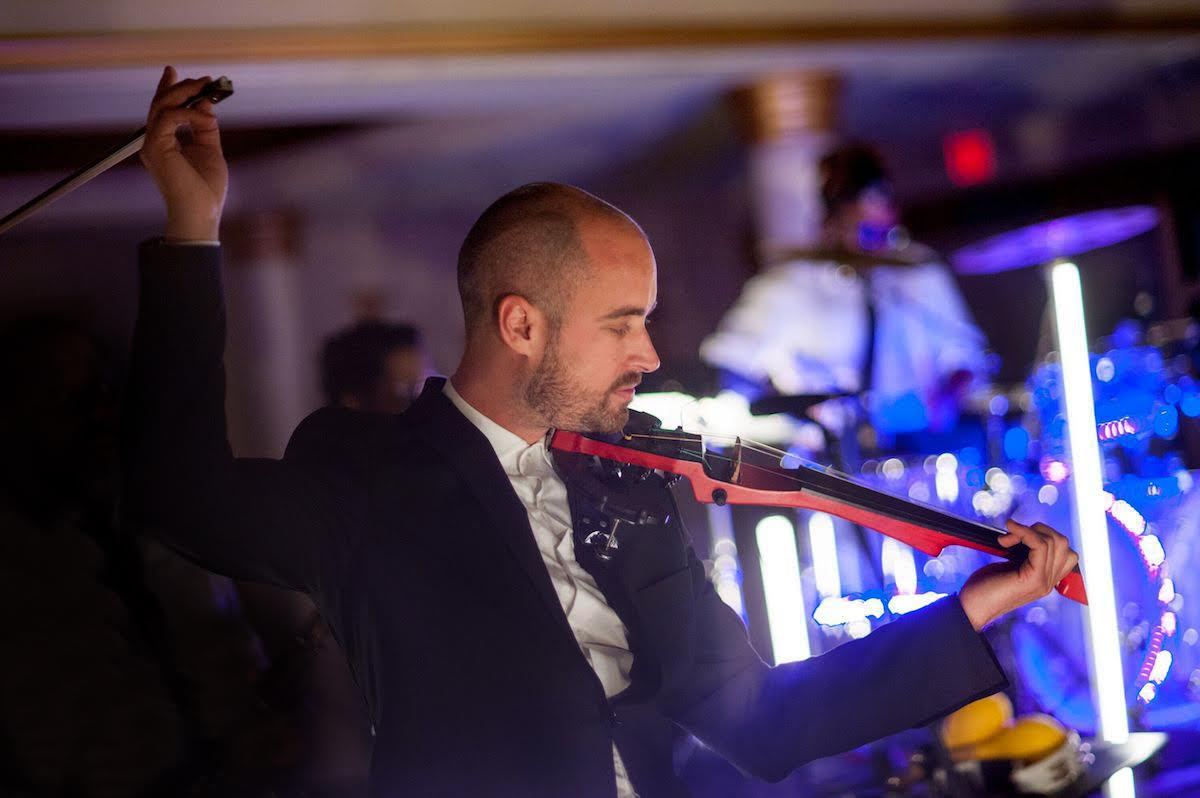 Electric Violinist Peter Kiral with Quentin's Band in Italy Tuscany