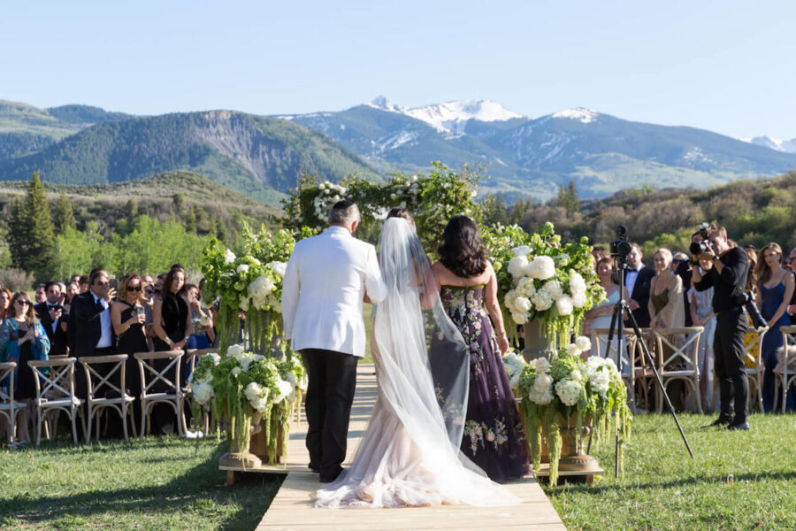 wedding ceremony in Snowmass near Aspen