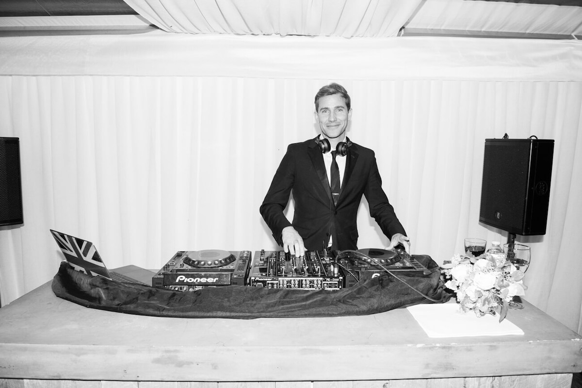 DJ Zen Freeman at a wedding in Aspen